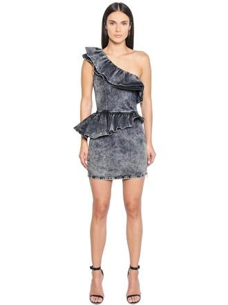 dress denim dress denim cotton grey