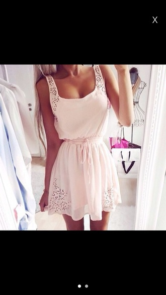 dress baby pink pink lace dress floral polka dots