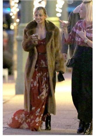 dress bustier dress maxi dress gown nicole richie coat