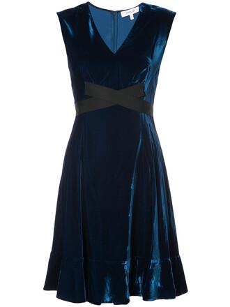 dress flare dress short flare women fit blue