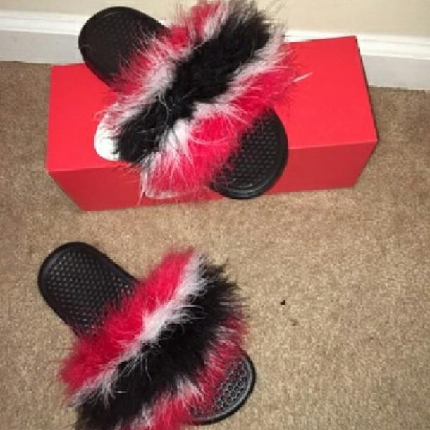 6d0418c07 shoes, trinidad, fur, nike, nike slides, spring break - Wheretoget