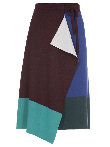 Kenzo Wool Skirt in blue