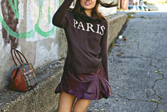 paris blogger bag color me nana skirt turtleneck