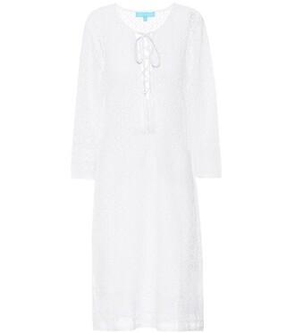 embroidered white swimwear