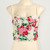 A15 Floral Bow Tie Back Crop Padded Cup Bustier Bra Corset Bralet Tank Top S | eBay