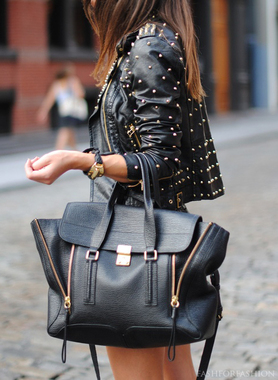 All over studded leather Jacket - Bad Girls Clique