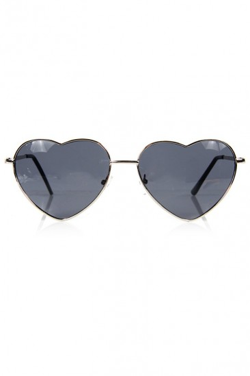 LoveMelrose.com From Harry & Molly | Heart Sunglasses - Silver