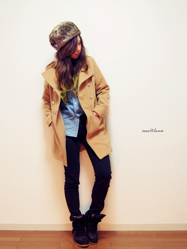 xoxo hilamee coat shirt jeans pants shoes hat jewels