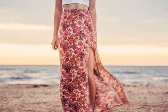 skirt floral skirt clothes skirt with suspenders crop tops fashion style outfit of today summer dress