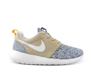 shoes nike nike roshes floral nike roshe run floral blue beige nike shoes for women nike running shoes
