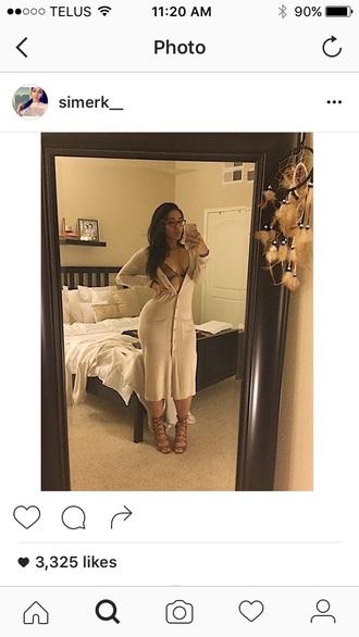dress beige sweater sweater dress