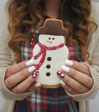 nail polish holiday season christmas white nails nails nail art tumblr food