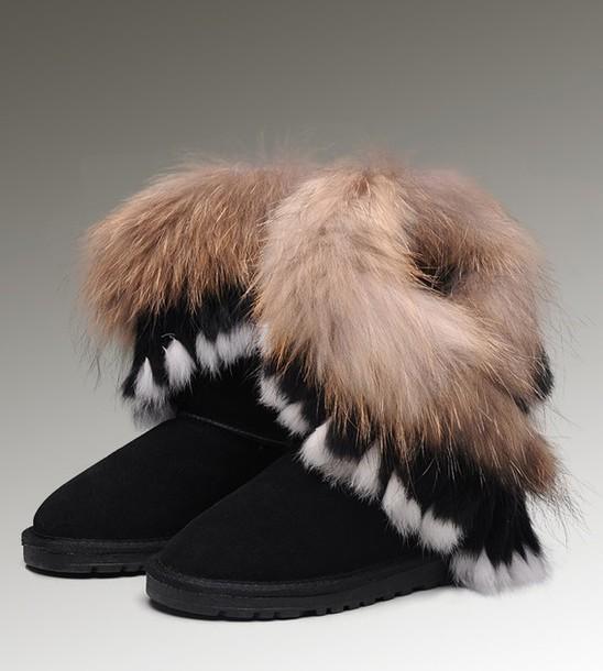 shoes winter boots ugg boots fur wheretoget. Black Bedroom Furniture Sets. Home Design Ideas