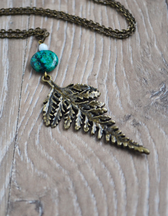 jewels fern nature coachella coachella fashion cute cute necklace plant nature jewelry love n lavish botanical leaf jewelry