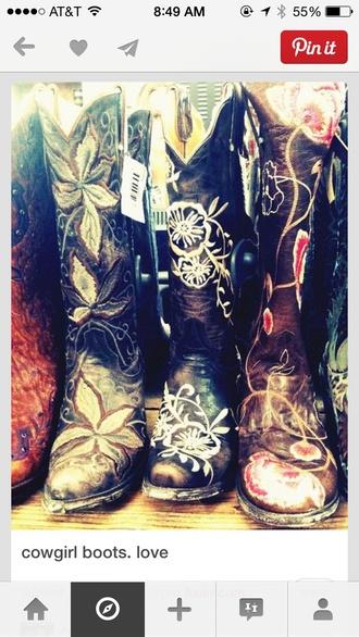 shoes flower cowboy boots boots grad shoes cowboy boots flowers cowgirl boots cowboy boots fashion floral shoes brown shoes country dress