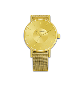 VOLARE GOLD WITH MESH BAND