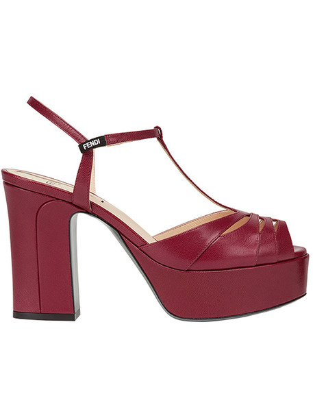 Fendi women sandals red shoes
