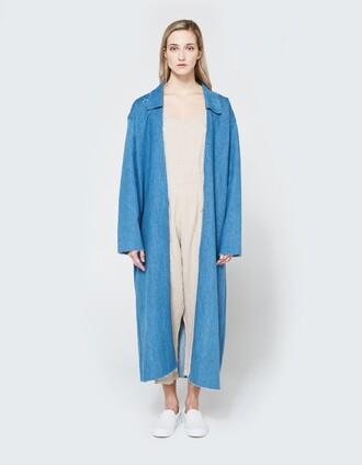 coat duster coat denim jacket