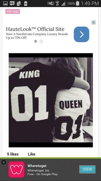 shirt king and queen