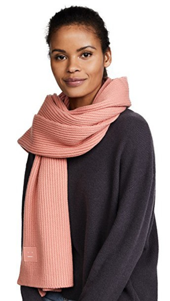 scarf pale pink