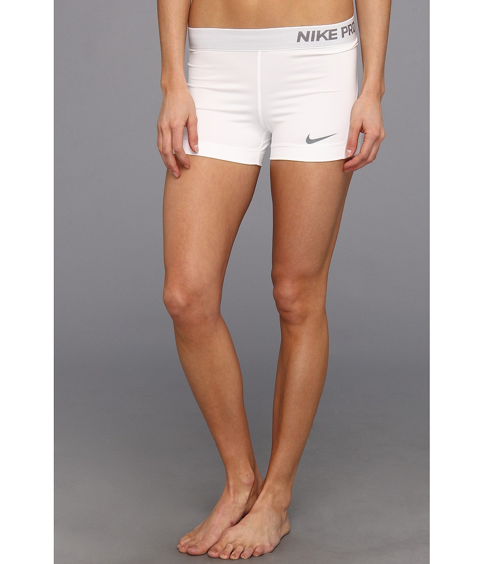 separation shoes 6be00 63e04 Nike Pro Three-Inch Short White Cool Grey - Zappos.com Free Shipping BOTH  Ways
