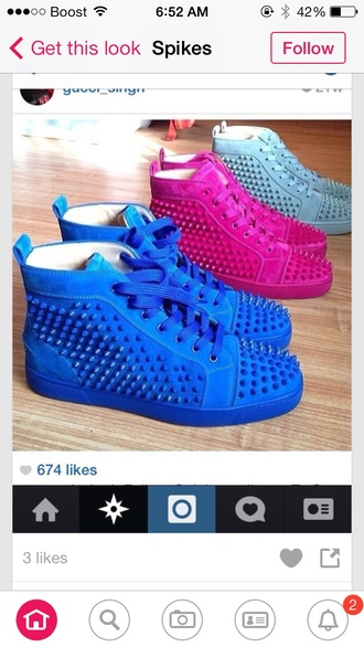 shoes spikes spiked headband sneakers