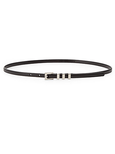 Saint Laurent - Classic 3 Passants Leather Skinny Belt - Saks.com