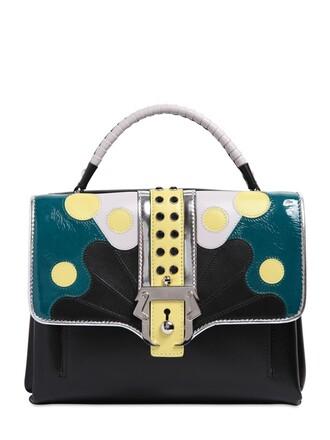 patchwork bag leather bag leather black