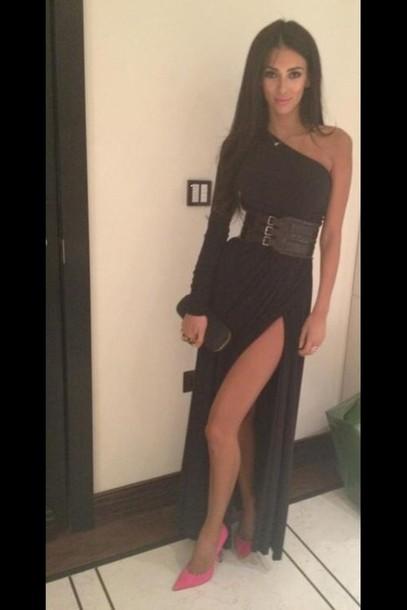 dress asymmetrical dress black maxi dress