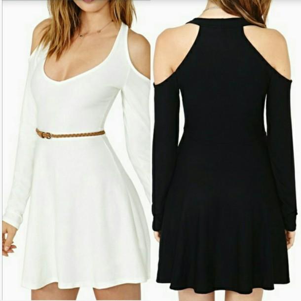 dress white dress black dress cute dress white black