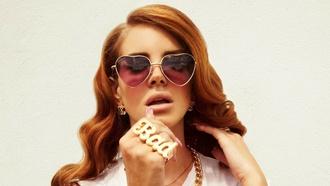 sunglasses lana del rey heart sunglasses ring bad ring bad