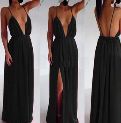 Pleated Backless Maxi Dress