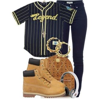 shirt baseball jersey legend. navy yellow