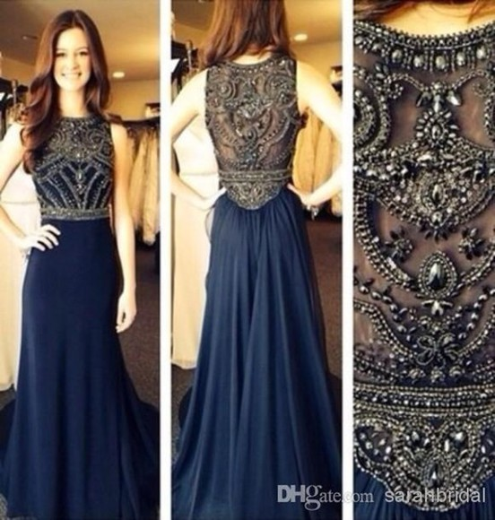 prom dress long chiffon beading natural rhienstones handmade fast shipping prom gowns tulle dress see through