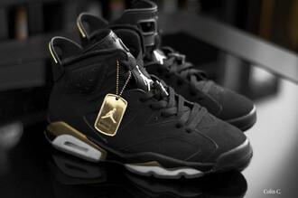 shoes jordan gold black coat 6 air jordan 6