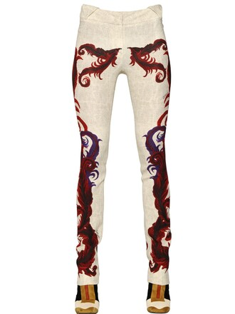pants white red