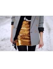 skirt,glitter,gold