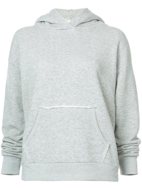 hoodie women cotton grey sweater