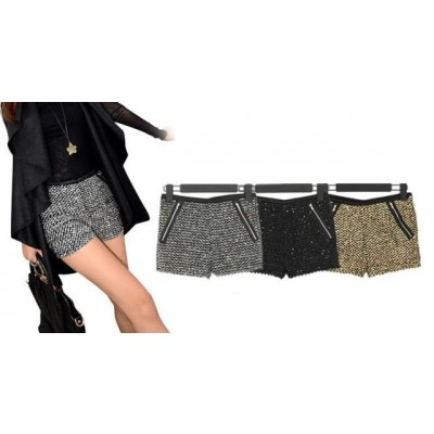 Buy Fashion Clothing -  Party sequined elastic shorts for women  - Shorts - Bottoms