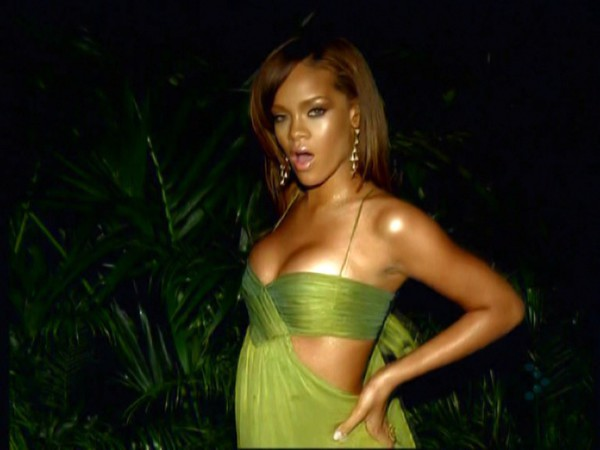 dress green dress rihanna