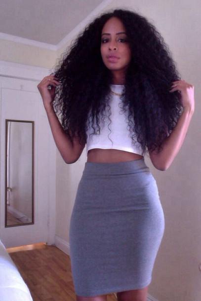 skirt grey black mini skirt knee length knee length skirt high waist skirts high waisted skirt white crop tops crop forever 21 pencil skirt short cute skirt stretch