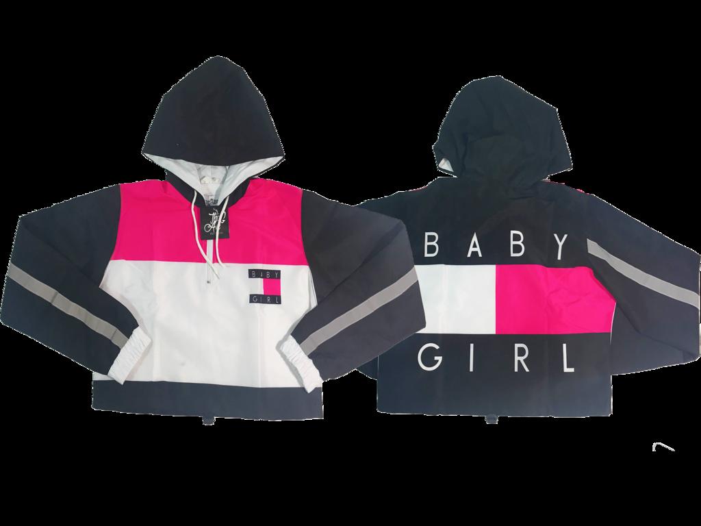 Baby Girl Crop Windbreaker