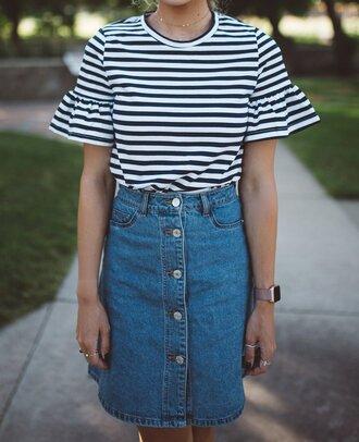 skirt frayed denim skirt