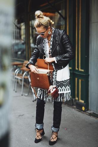 en vogue coop blogger jacket jeans top shoes bag jewels