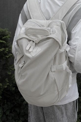 bag white backpack white herschelbackpack herschel supply co. mesh mesh bag mesh backpack leather white bag