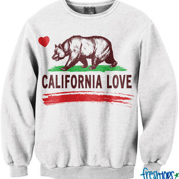 California Love Crew Neck | fresh-tops.com on Wanelo