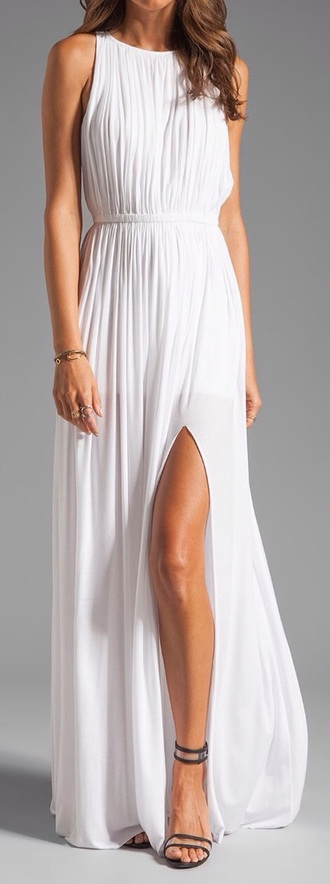dress white dress maxi dress halter dress