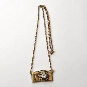 Amazon.com: Camera Pendant Metal Sweater Necklace Neck Chain: Jewelry