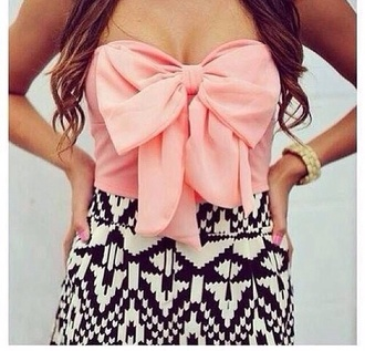 dress dress bow cute love blouse bow top