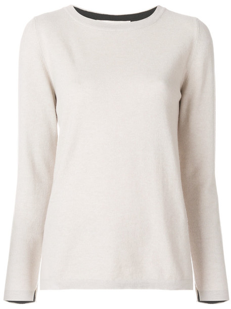jumper women nude silk wool sweater